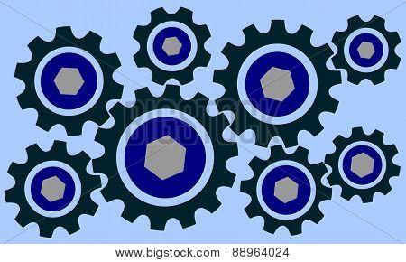 Cog wheels set