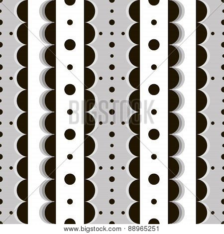 Trendy Black And White Seamless Pattern