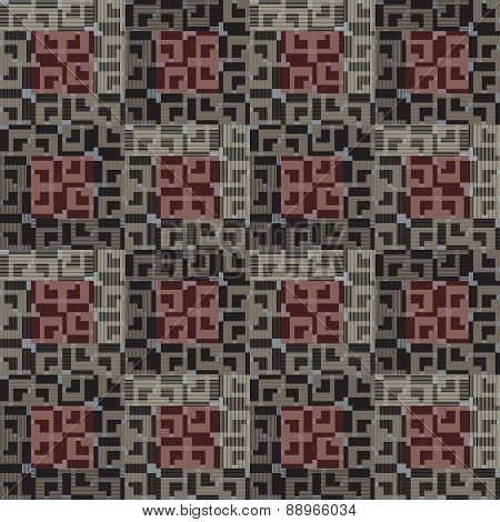 Seamless pattern with geometric design