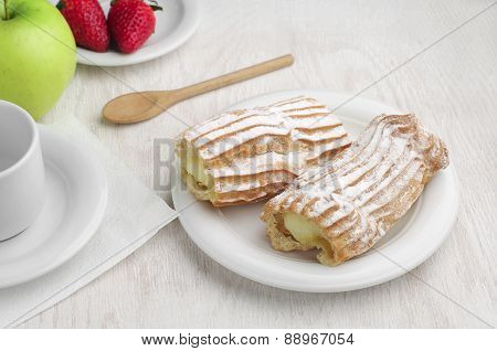Sweet Cake And Fruits