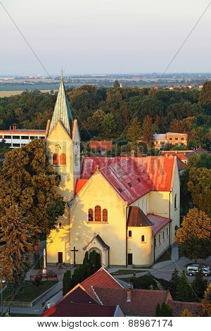 Aerial View Catholic Church