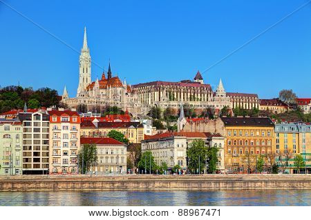Cathedral In Budapest And Danube