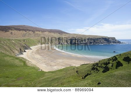 The Silver Strand Beach In Donegal