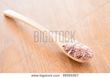 Spoon Of Organic Berry Jasmine Rice
