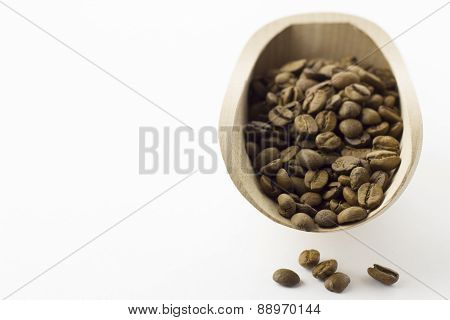 Coffee Beans in the food shovel