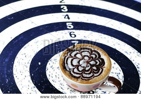 Coffee Target On The Dart For Business Concept