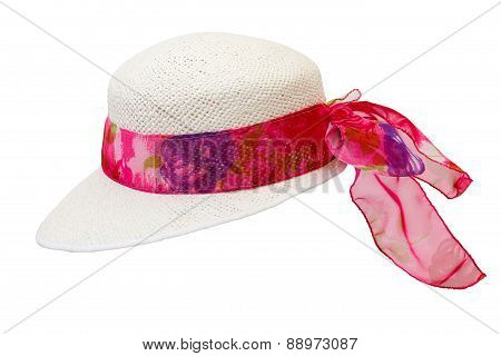 Summer Hat, Isolated On White