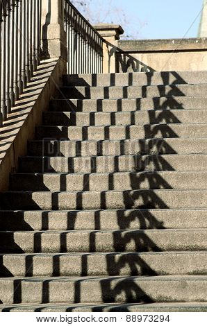 Historical Stairs With A Game Of Shadows
