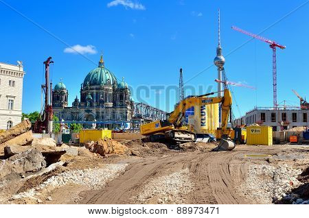 Construction site in Berlin, Germany.