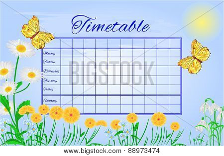 Timetable Butterflies Gonepteryx Rhamni Vector
