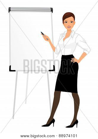 Businesswoman character presentation