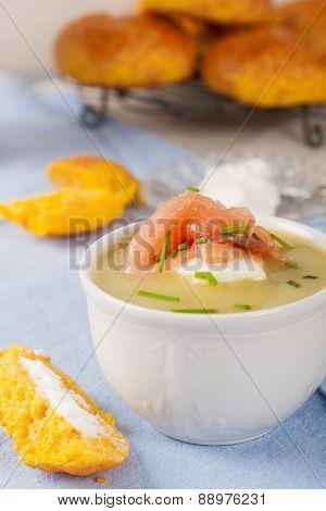 Delicious leek cream soup