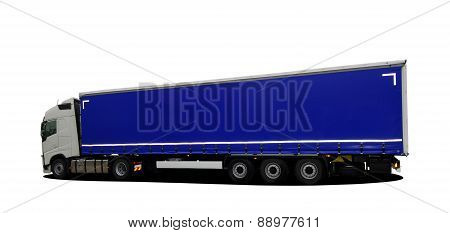 large truck with semi trailer