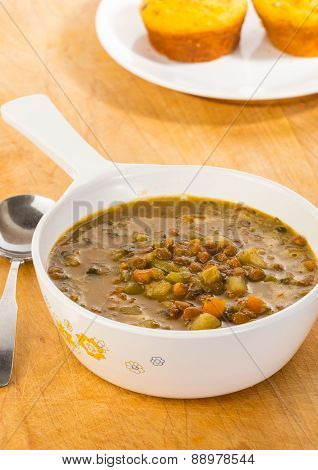Large Serving Of Organic Lentil Soup