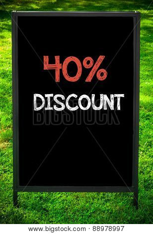 Fourty Percent Discount