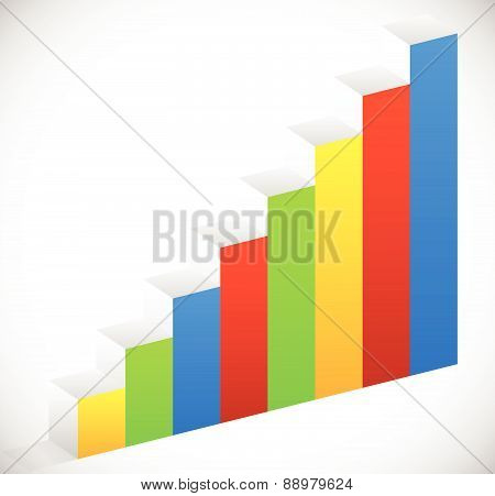 Bar Chart, Bar Graph Element. Eps 10 Vector Illustration