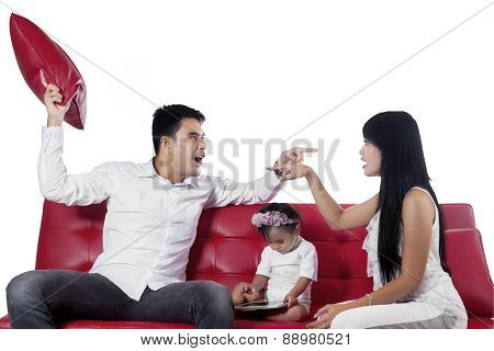 Two Furious Parents While Quarreling
