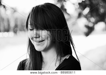Girl Cries And Smiles