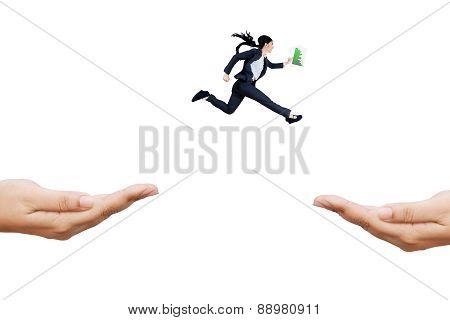 Woman Runs Rush To Chase Her Aim