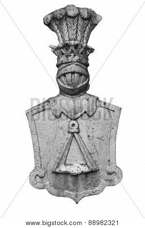 Medieval Coat Of Arms On White Background