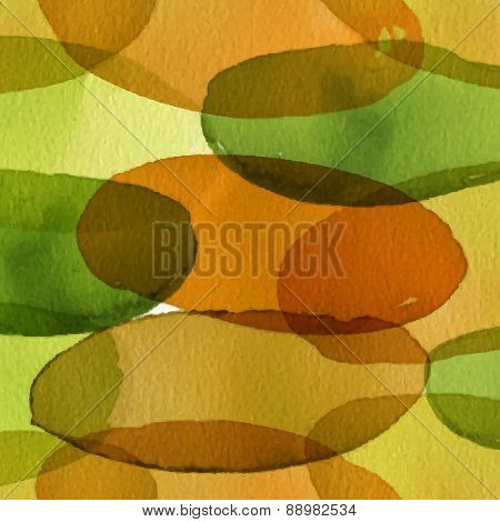 Seamless Vector Artistic Design Watercolor Stain Pattern