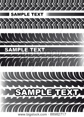 A Set Of Detailed Tire Prints For Your Design. Vector Illustration.