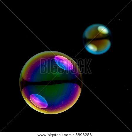 two soapbubbles