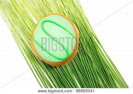delicious dessert in green