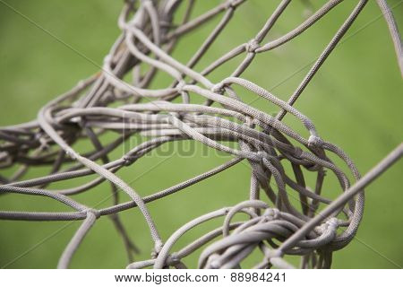 Knotty Football Goal Net