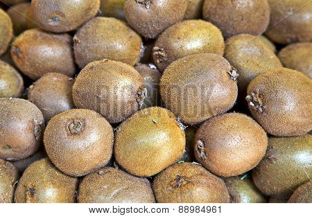 Organic Kiwi Fruit At Market Stall