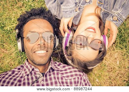 Couple Listening Music