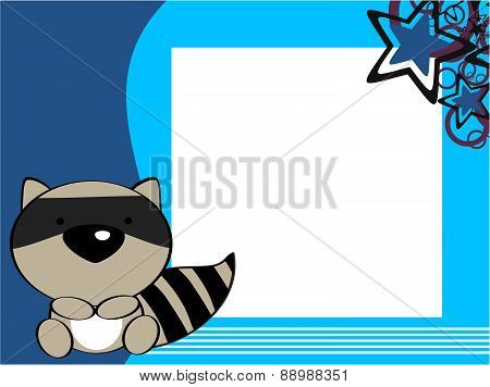 cute baby raccoon picture frame