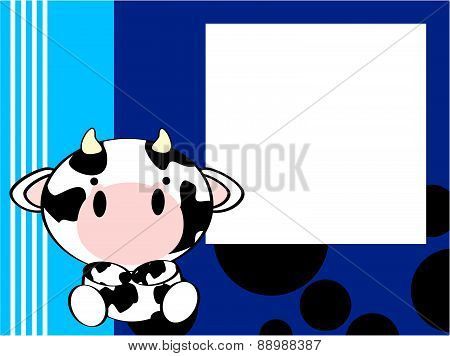 cute baby cow picture frame