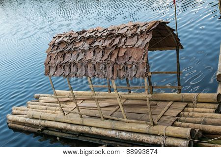 Bamboo raft made of bamboo