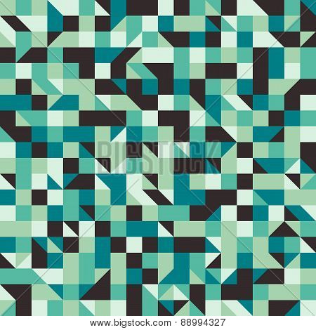 Vintage seamless pattern with squares and rhombuses.