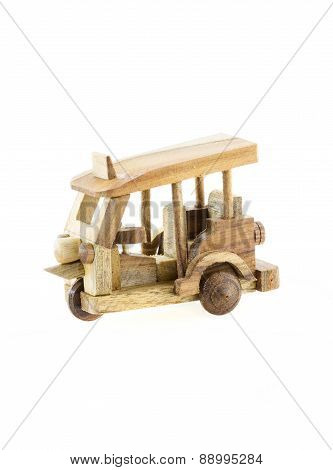 Thailand Three Wheel Native Taxi (tuk Tuk) Wood Model