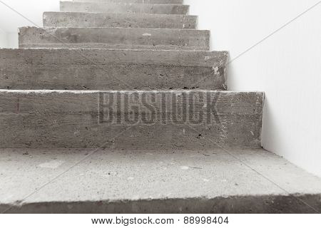 concrete staircase under construction