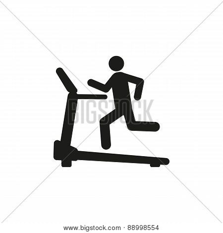 Cross Trainer Machine Icon. Running Symbol