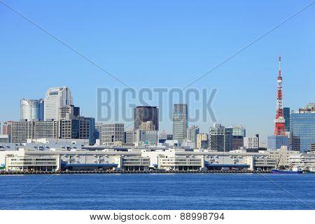 Tokyo bay in Japan