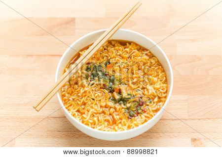 Instant Noodles with chopstick