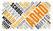 stock photo of prone  - ADHD word cloud on a white background - JPG