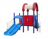 image of playground  - Playground for children isolated on a white background - JPG
