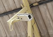 pic of cctv  - Security Camera or CCTV with roof background - JPG