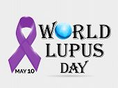 image of lupus  - illustration of stylish text for World Lupus Day in gray background - JPG