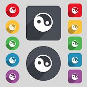 image of ying yang  - Ying yang icon sign - JPG