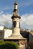 stock photo of cemetery  - Memorial in Recoleta Cemetery Buenos Aires - JPG