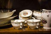stock photo of ceramic bowl  - Close up ceramic bowls  - JPG