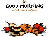 stock photo of breakfast  - hand - JPG