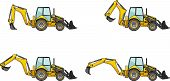picture of backhoe  - Detailed illustration of backhoe loaders - JPG