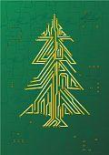 Постер, плакат: Рождественская елка цепь это празднование концепции
